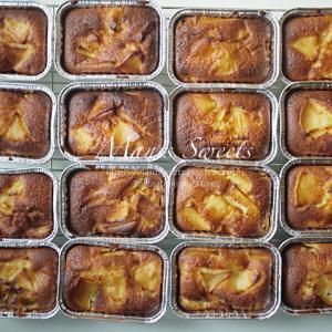 りんごケーキ アルミの入れ物