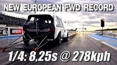 はえー!ゴルフ1 ゼロヨン8秒254 FWDヨーロッパ最速動画