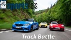 BMW M2 CS vs AMG A45 S vs ポルシェ ケイマン GTS 4.0 サーキットタイムアタック動画