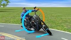 バイクのコーナー直前の逆ハンについて物理的視点で考える動画
