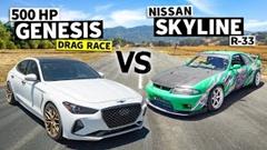 スカイライン R33 GT-R vs ジェネシス G70 ドラッグレース動画