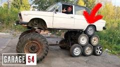 ラーダを14輪車にしちゃった魔改造カーwwww