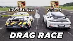 ポルシェ 992 GT3 vs 992 GT3 CUP ドラッグレース動画
