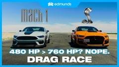 フォード シェルビー GT500 vs マスタング マッハ1 ドラッグレース動画