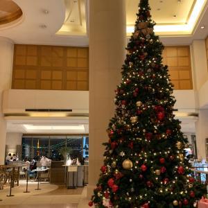 【買出しとホテルのクリスマスツリー】