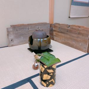【夏の風流な茶道タイムは、葉蓋点前、流し点て】