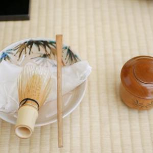 【インプットデーには茶道のお稽古は洗い茶巾の流しだて】