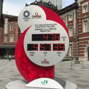 東京オリンピックカウントダウンクロック再始動