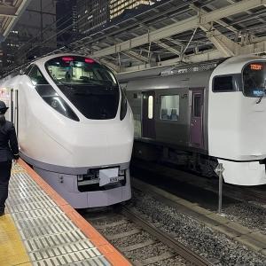 東京駅にてE657系の並び