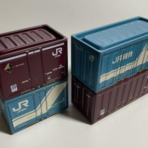 100均のセリアのJR貨物コンテナ缶