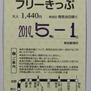 秩父鉄道 日付印、和暦から西暦表示に変更