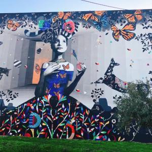 サンガビーノ ジョルジュさんの壁画
