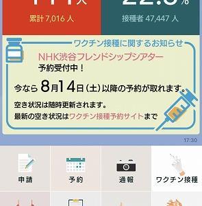 渋谷区のワクチン接種、14日以降の予約取れます!