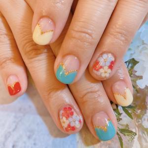 春色ネイル、マヤ暦、河津桜、