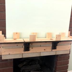 暖炉のリモデル 2