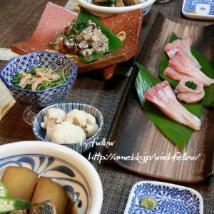 ◆カンパチトロ刺身にカンパチ煮つけ♪ムロアジたたきのおうちごはん♪