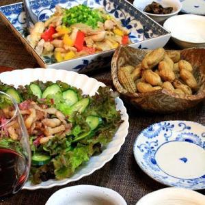 ◆塩糀チキンと生姜たっぷり野菜ソテーのおうちごはん♪