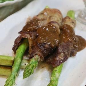 ◆博多アスパラガスであぐー豚の肉巻き♪