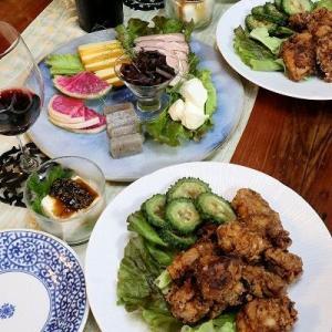 ◆鶏のから揚げと久しぶりのスモーク~今夜は発酵フルコース♪