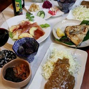 ◆豚ロースの生姜醤油糀とカンパチカマ焼きでおうちごはん♪