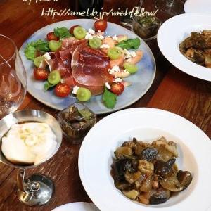 ◆ラタトゥイユと桃のサラダでおうちごはん♪