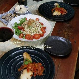 ◆鰤のトマトソースでおうちごはん♪~ゆるやか糖質制限中♪