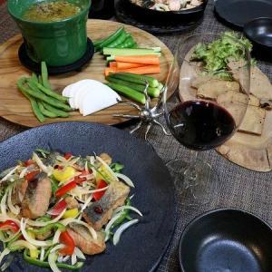 ◆秋鮭の南蛮漬けにアヒージョでおうちごはん♪~ゆるやか糖質制限中♪