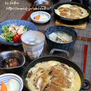 ◆カツ煮のおうちごはん♪~ゆるやか糖質制限中♪