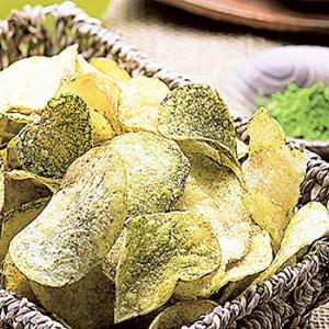 静岡県産緑茶と駿河湾の塩で作った「お茶塩ポテチ」が製品化