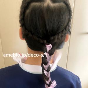 卒園式に向けて髪型の練習