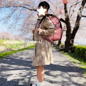 桜とランドセル♡