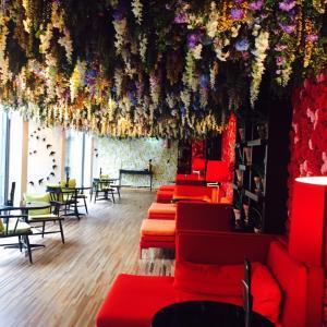 ポルトお花がいっぱいの可愛らしいホテル
