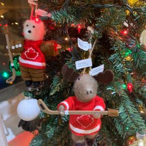 降りましたね。カナダ風クリスマスツリー