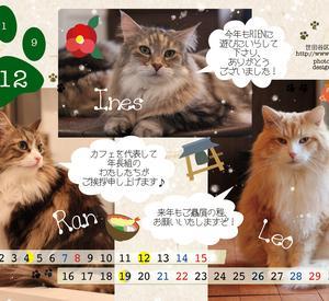 12月のカレンダー配布開始します!