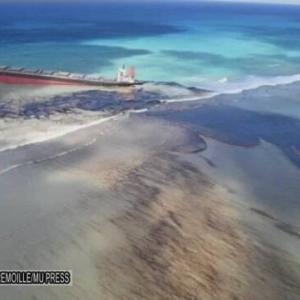 【インド洋】商船三井 重油1000トン流出 モーリシャス環境保護団体「回復に数十年。適切な補償を望む」
