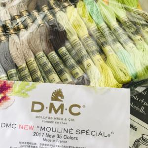 サテンステッチと美しい刺繍糸。