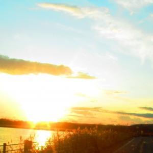 黄金色の夕日(シラルトロ湖〜塘路湖)