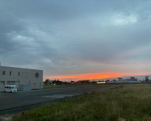 釧路市興津・益浦からの夕焼け