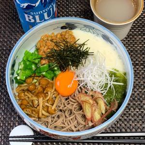 ネバネバトロトロ「ぶっかけ蕎麦」 5月19日の自宅昼麺 @ 鷹合倶楽部 200519