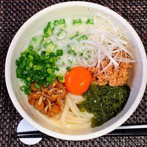 ネバトロぶっかけうどん 5月25日の自宅昼麺 @ 鷹合倶楽部 200525