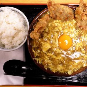 一番人気のふわとろ「鶏卵カレーうどん」 つくもうどん 天神橋店 @ 天満 210614