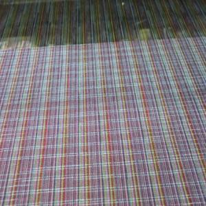 多色経糸織り始めました