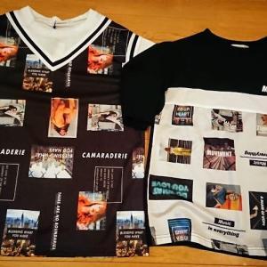 フォトプリント柄のシャツ