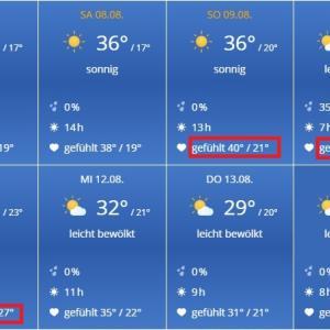 ドイツでも猛暑日ついに来る!!