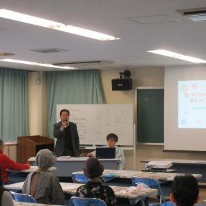川根町での「花壇つくり」の講演と寄せ植え作り体験教室