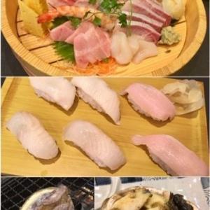 お寿司や鮑のバター焼きが美味しかった。