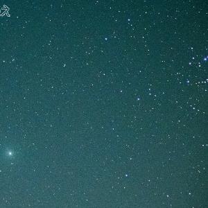 ウィルタネン彗星とすばる(46P/Wirtanen and M45 Pleiades)