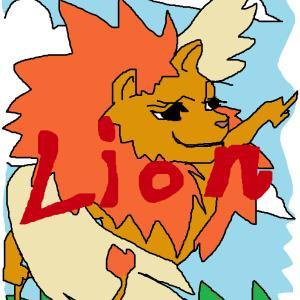 久しぶりにマウスで絵を描いた。『ライオン』