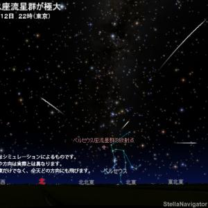 流星、見えるかな?