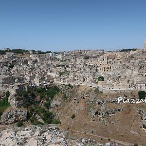 ムルジャティモーネ展望台からマテーラの眺め